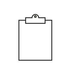 Clip board work icon vector