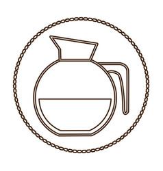 Coffee jug icon image vector
