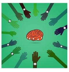 Creative brain Idea concept with businessman hands vector