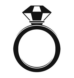crystal gemstone ring icon simple style vector image