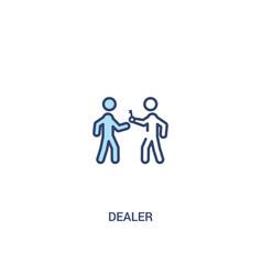 dealer concept 2 colored icon simple line element vector image