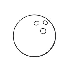 Doodle bowling ball vector