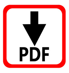 Download pdf file button isolated on white vector