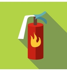 Fire extinguisher icon flat style vector