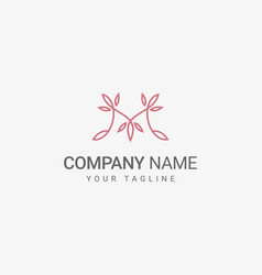 floral m logo template vector image