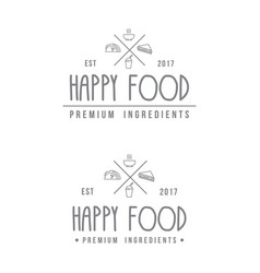 food store modern logo vector image