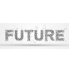 Future font design vector