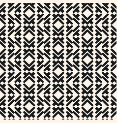 Geometric seamless pattern in tribal ethnic style vector