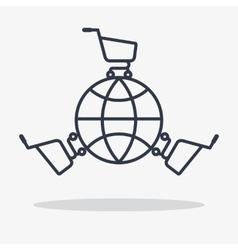 global shopping icon vector image