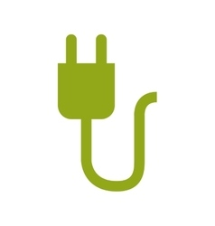 Green power connector design vector image