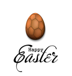 Happy easter egg in form a handball ball vector