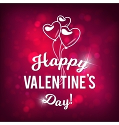 Happy Valentine s Day Bokeh Pink Background vector image