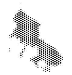 Hex-tile skyros greek island map vector
