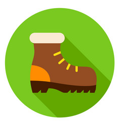 hiking shoe circle icon vector image