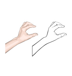 human brush gesture vector image