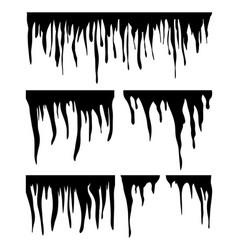 icicles snow cap drift silhouette symbol icon vector image