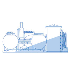 Industrial plant machinery vector