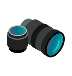 Interchangeable lens digital camera icon vector image
