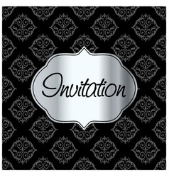invitation card with creative design vector image