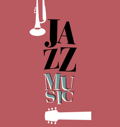jazz poster-03 vector image