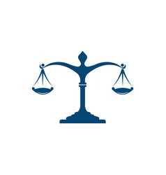 justice law firm icon template vector image