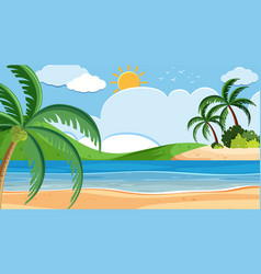 landscape background design seaside on sunny vector image
