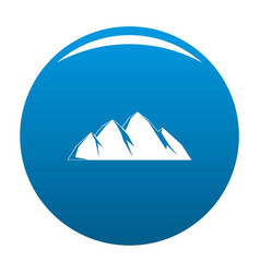large mountain icon blue vector image