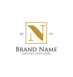 letter n logo design inspiration vector image