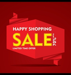 limited time offer sale on everything banner vector image