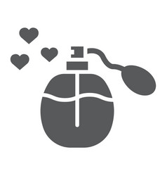 love perfume glyph icon aroma and romantic fluid vector image