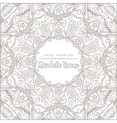 Mandala for coloring with floral decorative elemen vector