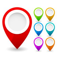 Map marker map pin map markers with circles with vector