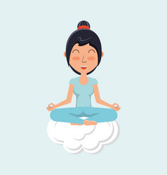 meditation design concept vector image