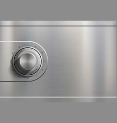 Metal safe door with a combination lock vector