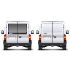 Minivan rear view vector