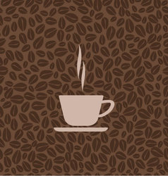 mug with coffee vector image