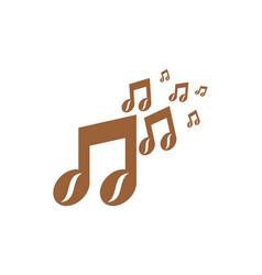 music coffee logo icon design vector image