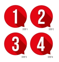 One two three four progress bar stickers vector image