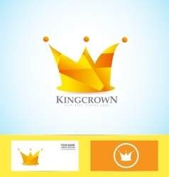 Orange crown 3d logo vector image