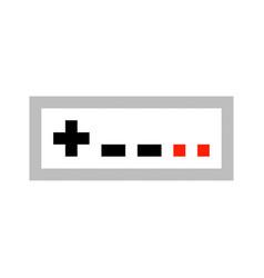 Pixel art game pad contorller cartoon retro game vector