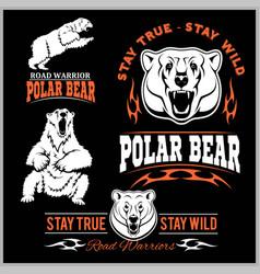 polar bears - set vector image