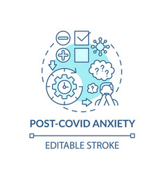 Post-covid anxiety concept icon vector