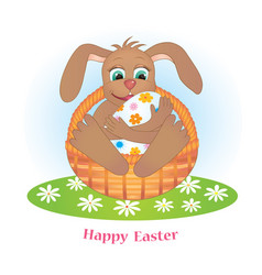 Rabbit and egg vector