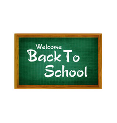 realistic back to school title poster design in a vector image