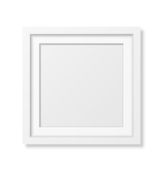 Realistic square white frame vector image