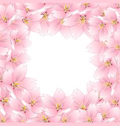 Sakura cherry blossom border vector