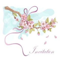 Sakura cherry invitation vector image