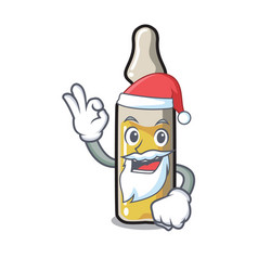 Santa ampoule mascot cartoon style vector
