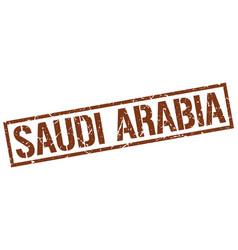 Saudi arabia brown square stamp vector