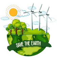 Save earth poster vector